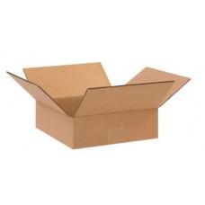 10 x 10 x 3 Flat Corrugated Boxes, 10103