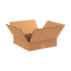 12 x 12 x 3 Flat Corrugated Boxes, 12123