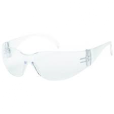 iNOX F-I Safety Glasses with Clear Lens and Clear Frame, 1715C