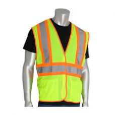 ANSI Type R Class 2 Two-Tone Three Pocket Mesh Vest, 302-MVAT