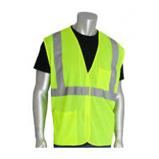 ANSI Type R Class 2 Value Yellow Mesh Vest, 302-MVGLY