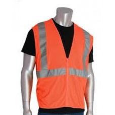 ANSI Type R Class 2 Value Orange Mesh Vest, 302-MVGOR