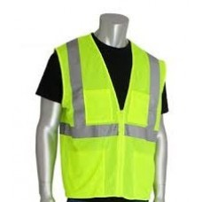 ANSI Type R Class 2 Four Pocket Value Yellow Mesh Vest, 302-MVGZ4P-YEL-3X
