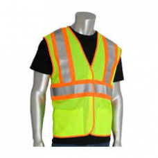 ANSI Type R Class 2 FR Treated Two-Tone Mesh Vest, 305-MVFRLY