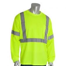 ANSI Type R Class 3 Long Sleeve Yellow T-Shirt, 313-1300LY