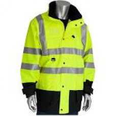 ANSI Type R Class 3 7-in-1 All Conditions Hi-Vis Yellow Coat, 343-1756
