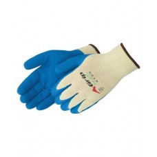 A-Grip Textured Blue Latex Palm Coated Gloves, 4729Q/G