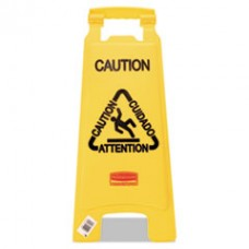 "Multilingual ""Caution"" Floor Sign, RCP 611200YW"