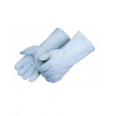 Standard Shoulder Grey Split Leather Welder Gloves, E7270