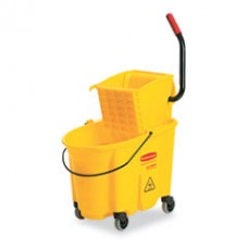 Wavebrake 26 Quart Side Press Mop Bucket and Wringer Combo, RCP 7480-18