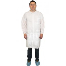 Disposable White Lab Coats, DLWH-(SIZE)