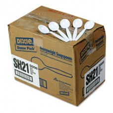 Heavyweight Plastic Soup Spoons, DXESH217