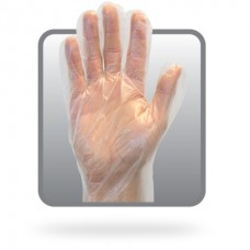 Clear Power Free Polyethylene Gloves, GDPE-XL