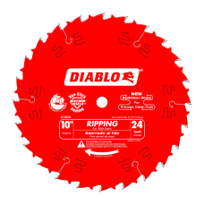 10 Inch x 24 Tooth Ripping Saw Blades, D1024X