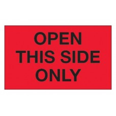 """3 x 5 """"Open This Side Only"""" Labels, DL1218"""
