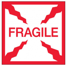 "2 x 2 ""Fragile"" Labels, DL1316"