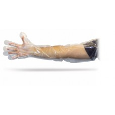 35 Inch Clear Power Free Polyethylene Gloves, GDPE-35