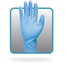 12 Inch Powder Free Blue Nitrile Gloves, GNPL-5-T8
