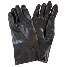 Black PVC with Smooth Finish with Interlock Lining and Extended Cuff, GPBI-12-1S-1