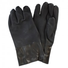 Black PVC with Rough Finish with Jersey Lining and Extended Cuff, GPBJ-12-2R-6