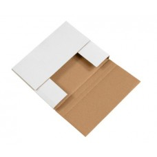 10 1/4 x 8 1/4 x 1 1/4 White Easy-Fold Mailers, M1081