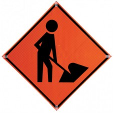 36 Inch Traffic Sign with Frame, 26036-EFO-HF
